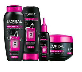 Review : L'oreal Anti Hair-Fall Shampoo and L'oreal Anti Hair-Fall Conditioner