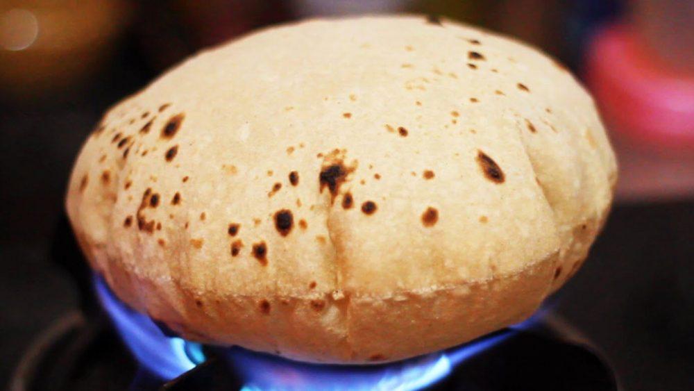 Phulka also known as roti or chapati